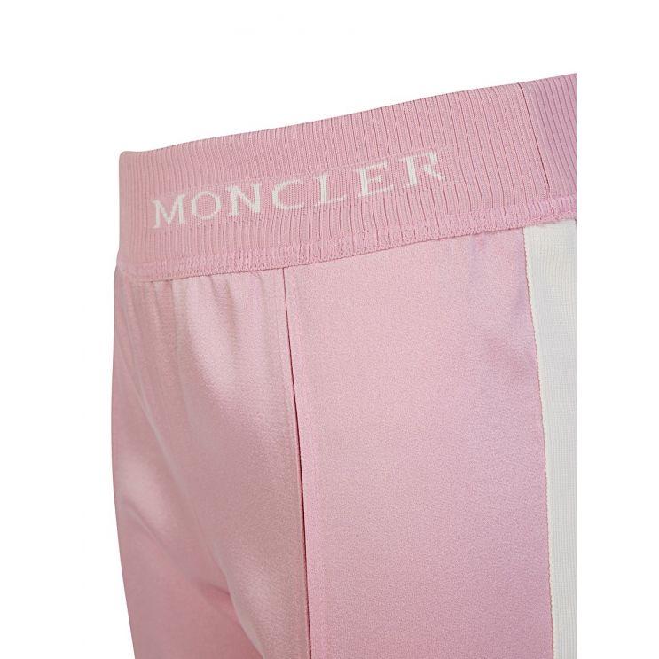 Moncler Enfant Pink Satin Logo Tracksuit