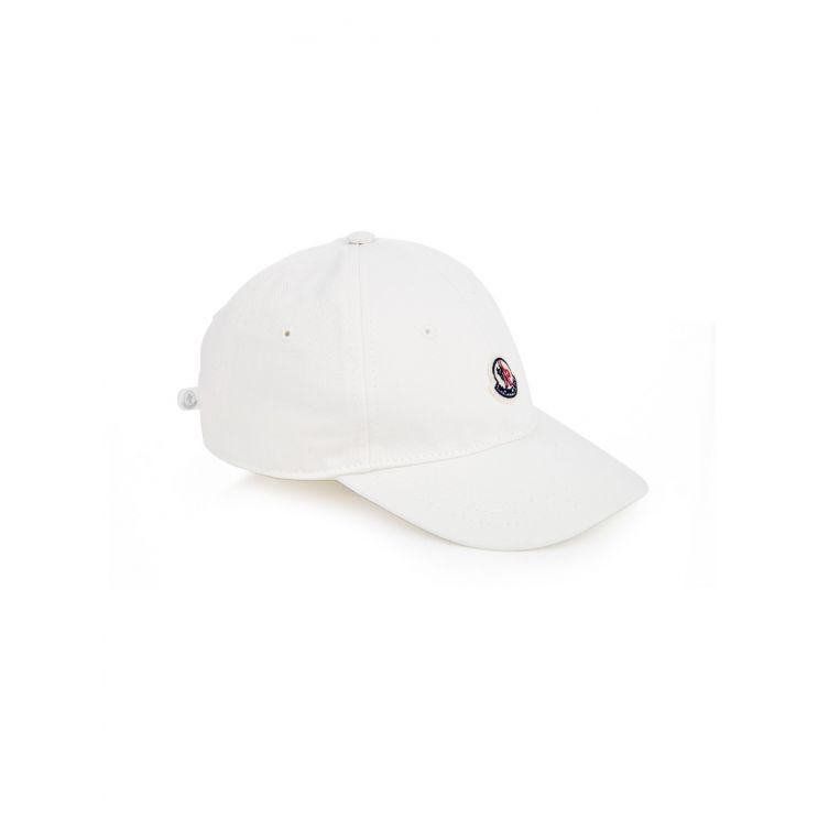 Moncler Enfant White Logo Cap