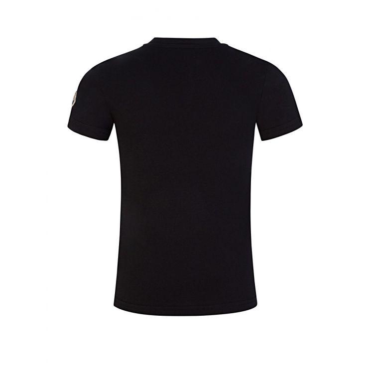 Moncler Enfant Black Chest Logo T-Shirt