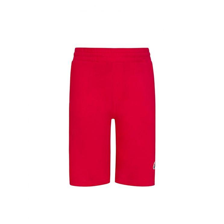 Moncler Enfant Red Logo Sweat Shorts