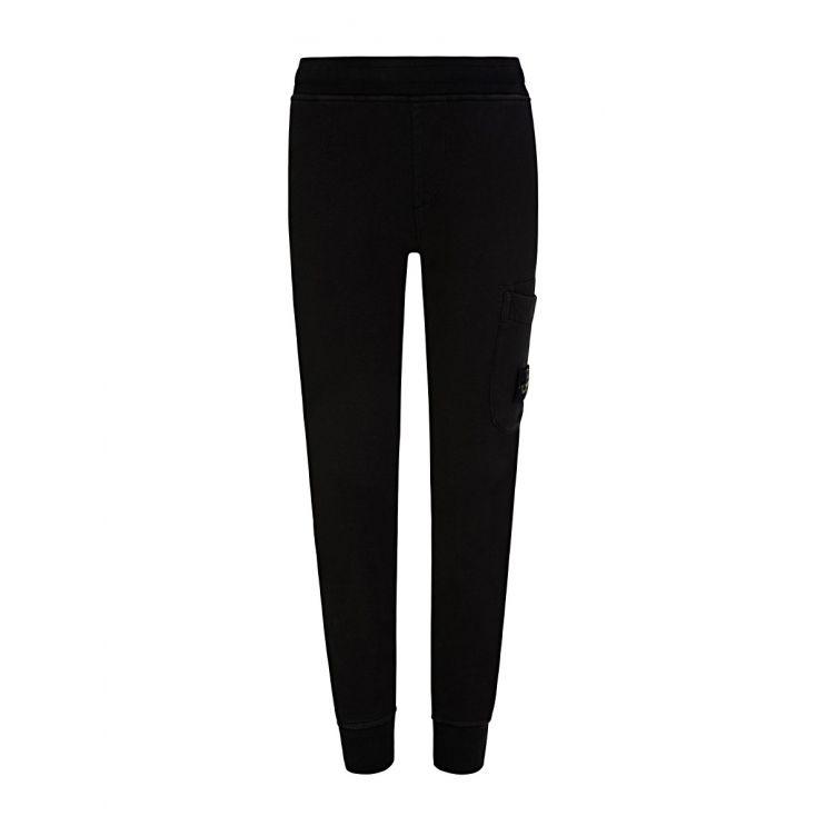 Stone Island Junior Black Fleece Sweatpants
