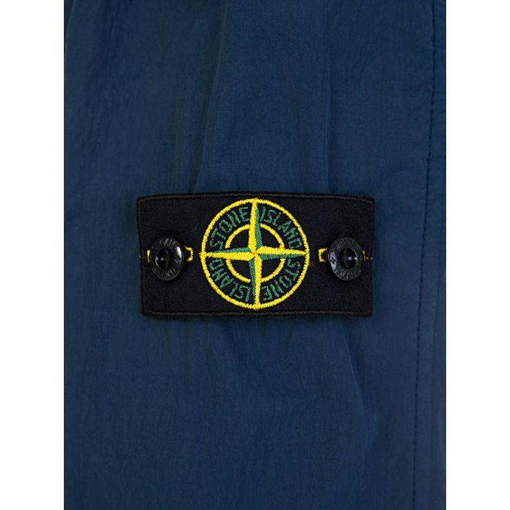 Stone Island Junior Blue Nylon Hooded Jacket