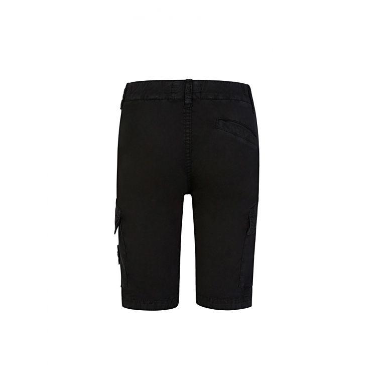 Stone Island Junior Black Cargo Shorts
