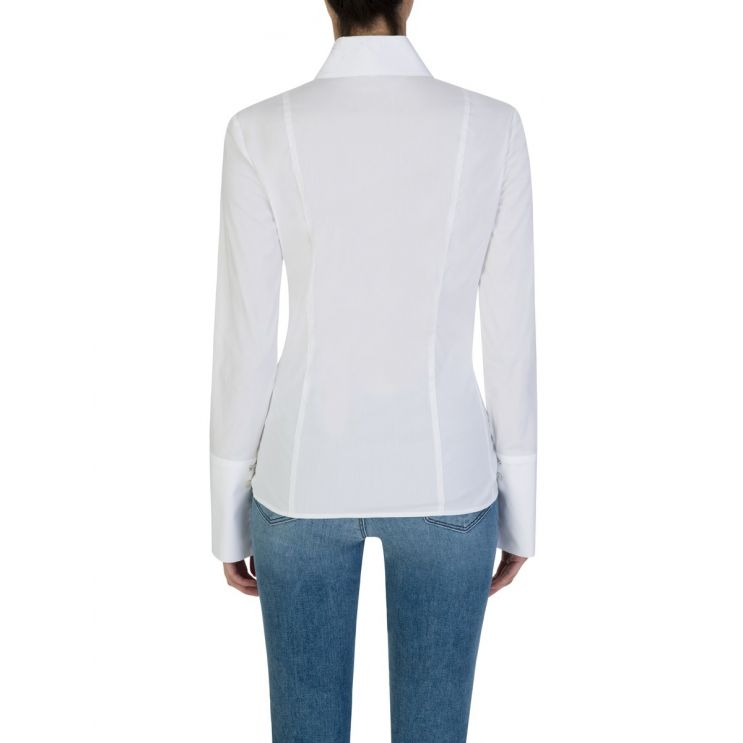 Patrizia Pepe White Long-Sleeve Blouse