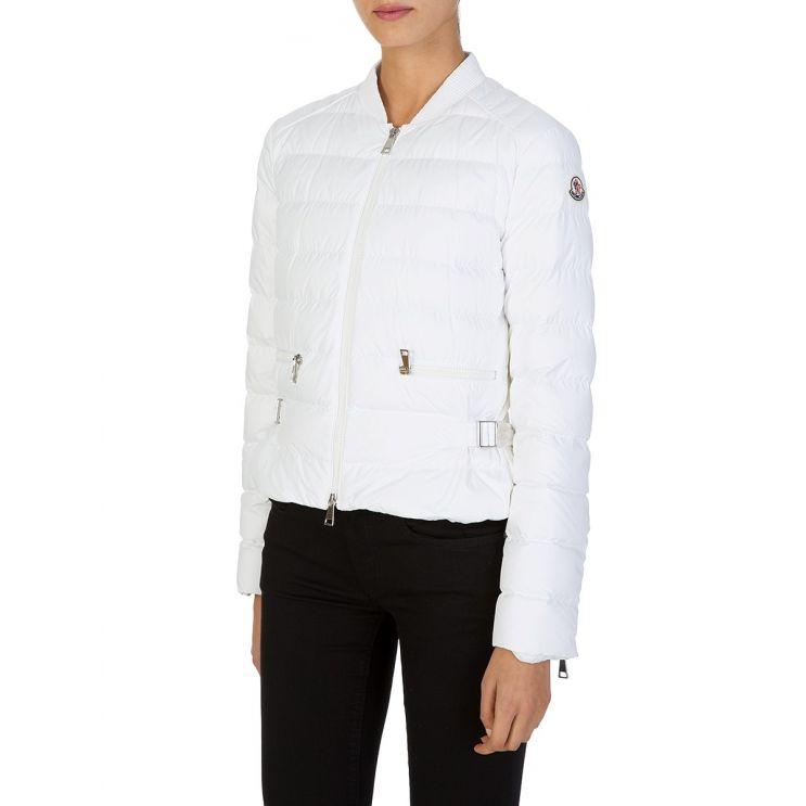 Moncler White Cafe Puffer Jacket