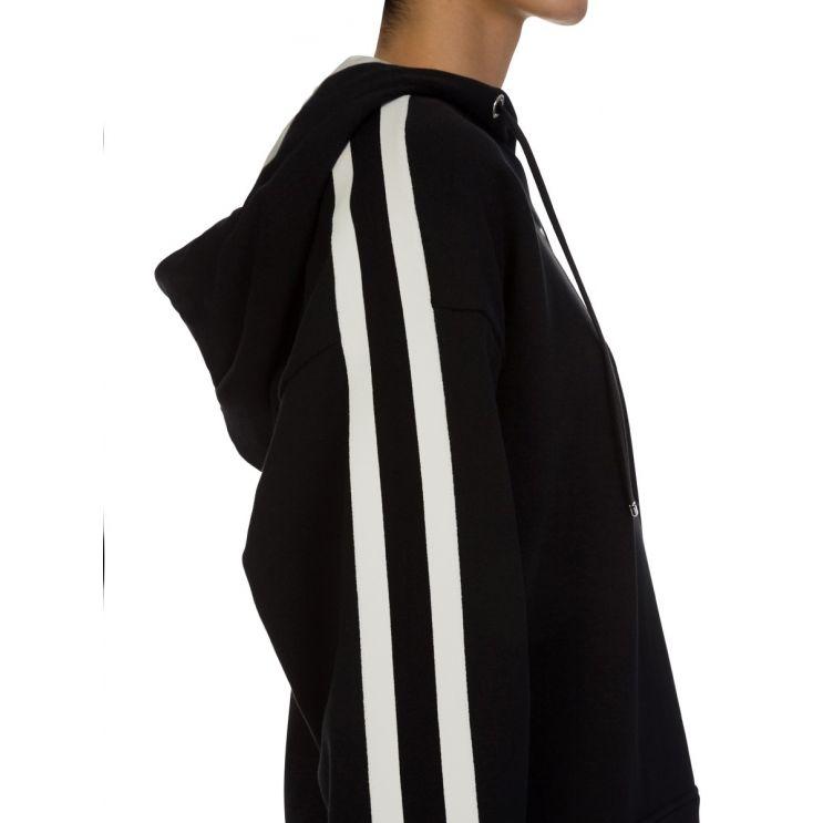 Moncler Black Sleeve Logo Hoodie