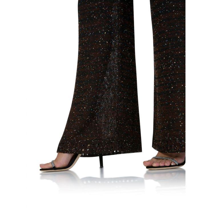 M Missoni Black Sequin Palazzo Trousers