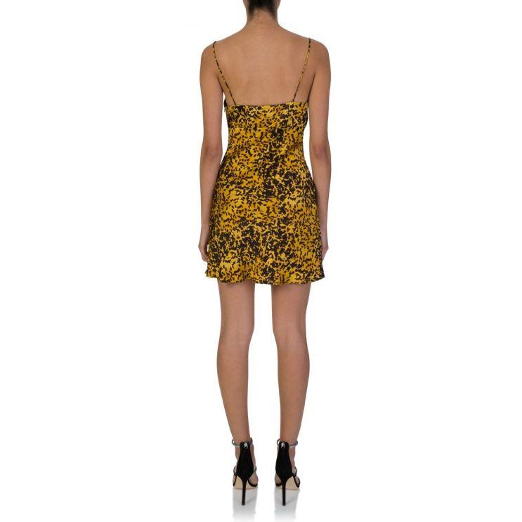 Bec + Bridge Tortoise Print Turtle Rock Silk Mini Dress