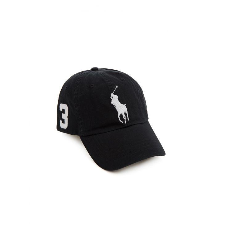 Polo Ralph Lauren Black Chino Cap