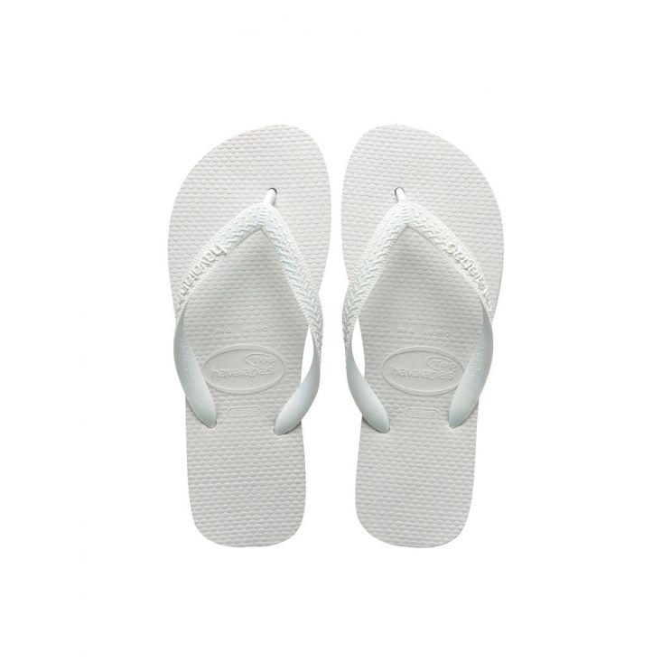 Havaianas White Top Plain Flip Flops