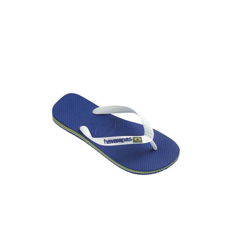 Havaianas Blue Brazil Logo Flip Flops