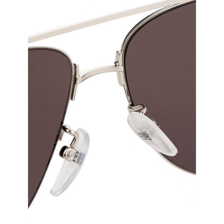 Balenciaga Silver Invisible Aviator Sunglasses