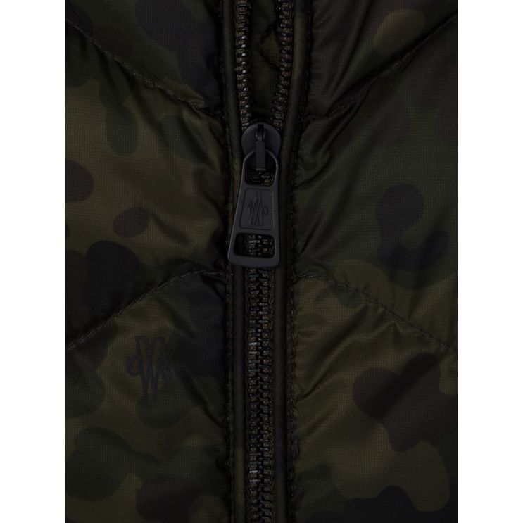 Moncler Green Camouflage Bomber Jacket