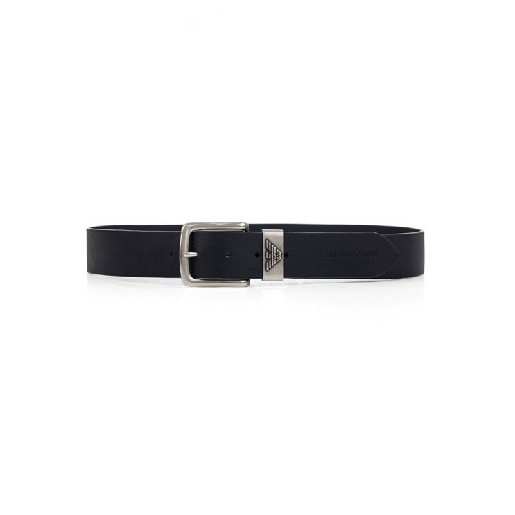 Emporio Armani Black Leather Fashion Belt