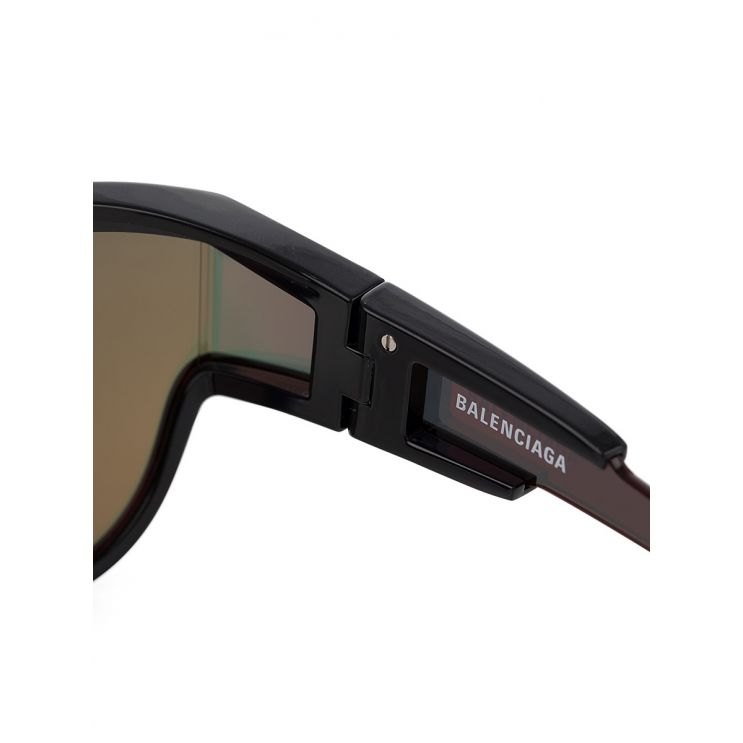 Balenciaga Black Wrap Lens Sunglasses