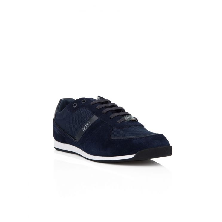 BOSS Navy Low-Top Maze Trainers