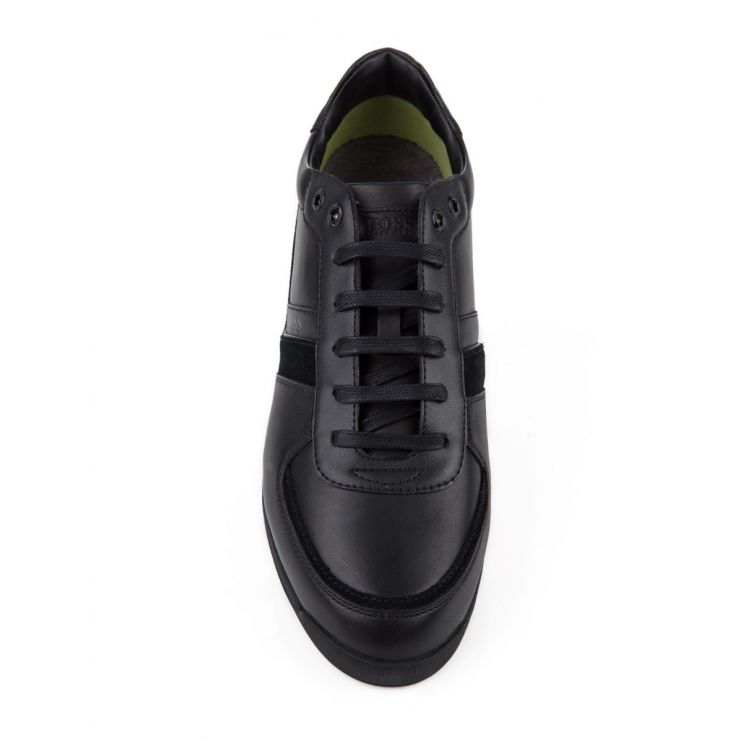 BOSS Black Low-Top Maze Trainers