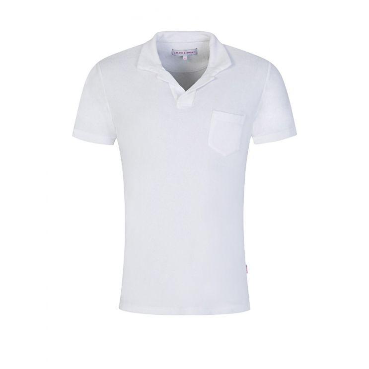 Orlebar Brown White Towelling Resort Polo Shirt