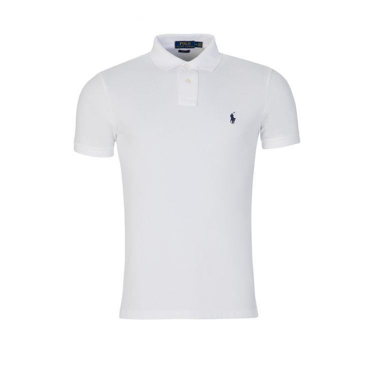 Polo Ralph Lauren White Slim Fit Mesh Polo Shirt