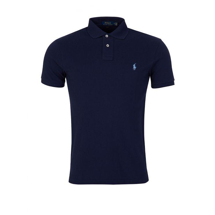 Polo Ralph Lauren Navy Slim Fit Mesh Polo Shirt