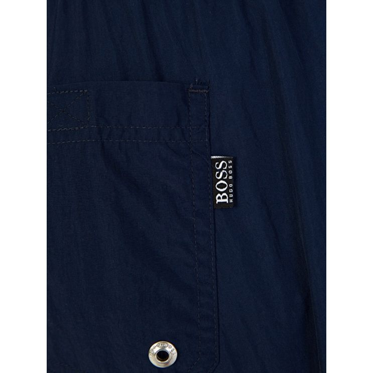 BOSS Navy Icefish Swim Shorts