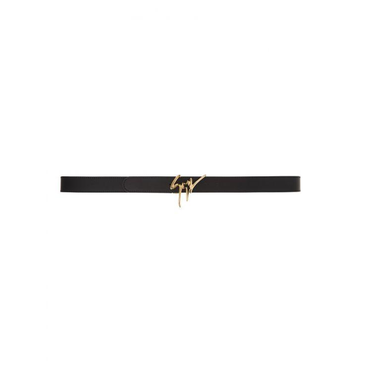 Giuseppe Zanotti Gold Signature Leather Belt