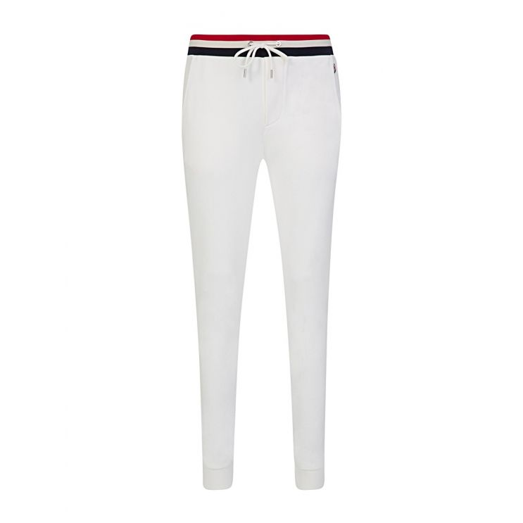 Moncler White Waist-Tipped Sweatpants