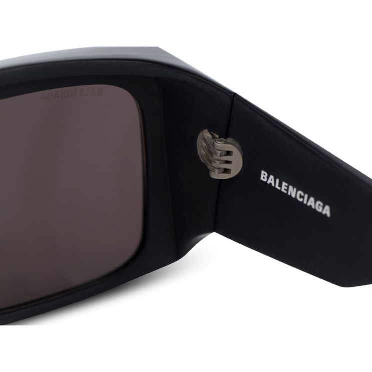 Balenciaga Black Thick Rimmed Square Sunglasses