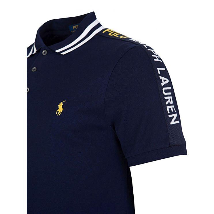 Polo Ralph Lauren Navy Tape Logo Polo Shirt