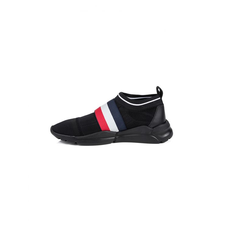 Moncler Black Adon Slip-on Trainer
