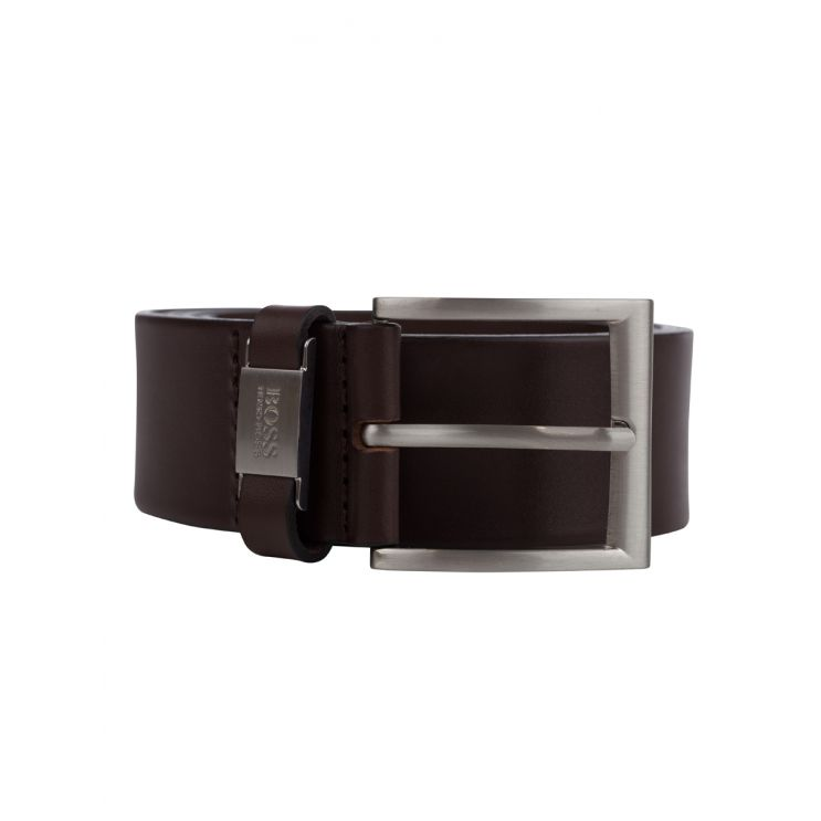 BOSS Brown Leather Connio Belt