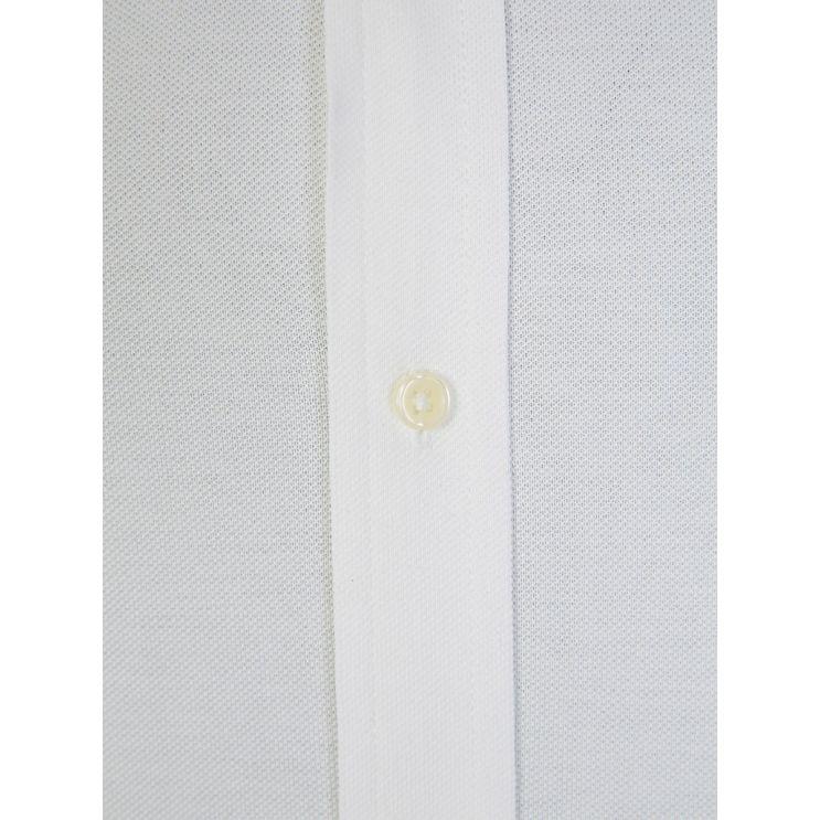 Polo Ralph Lauren White Long-Sleeve Knit Oxford Shirt