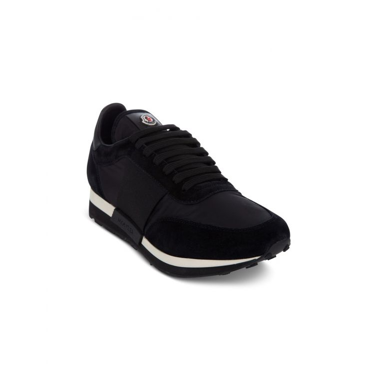 Moncler Black Suede Horace Trainers