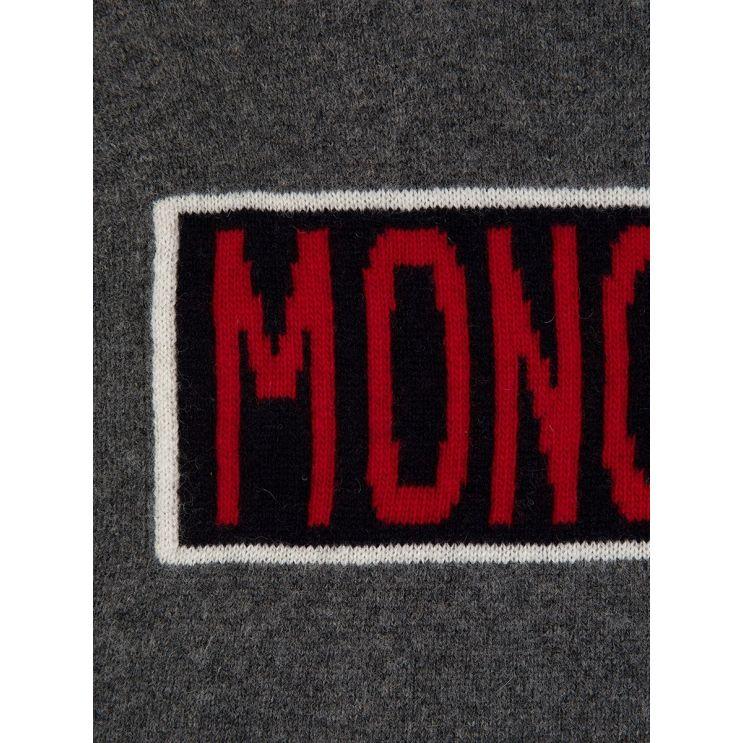 Moncler Grey Box Logo Jumper