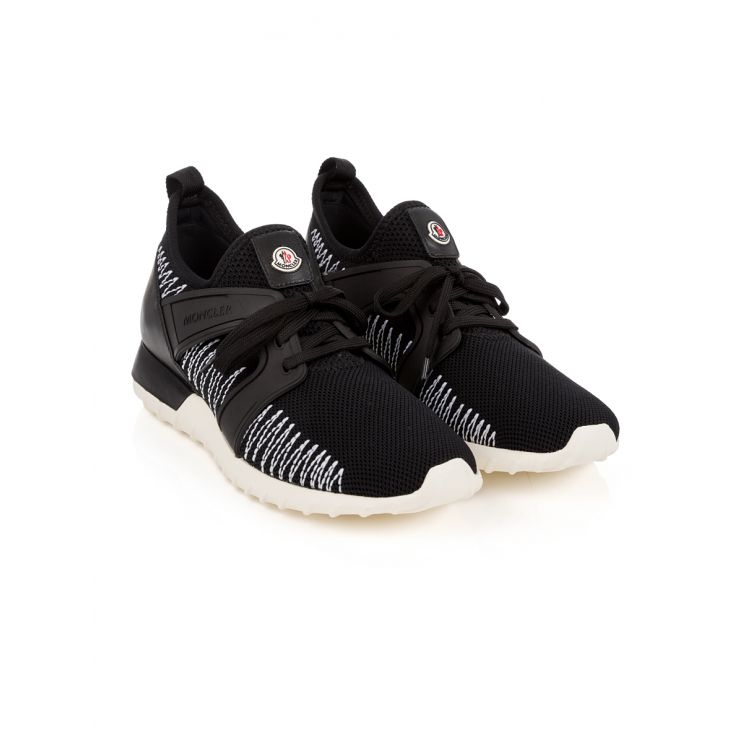 Moncler Black Knitted Trainers