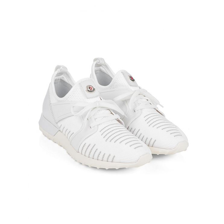 Moncler White Striped Running Trainers