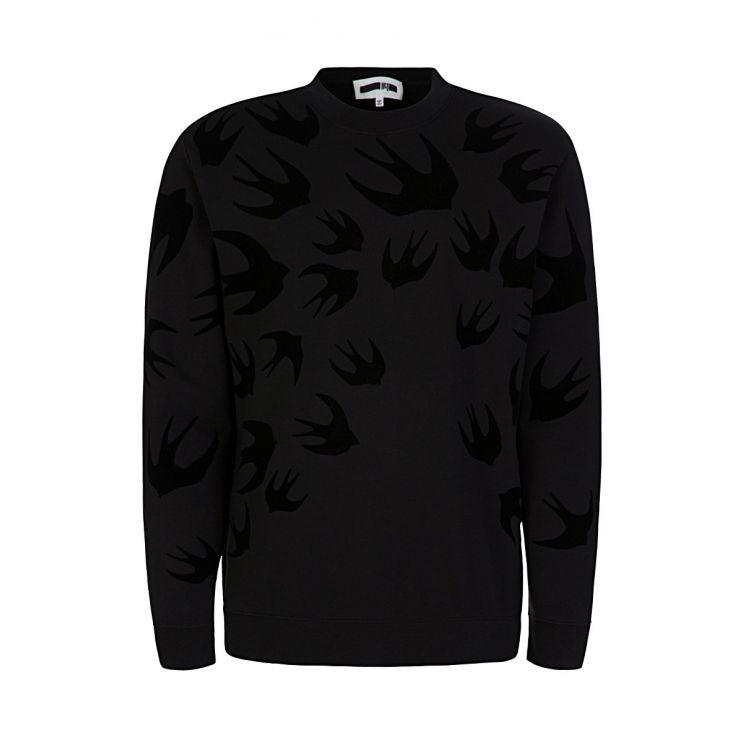 McQ Swallow Black Swallow Sweatshirt