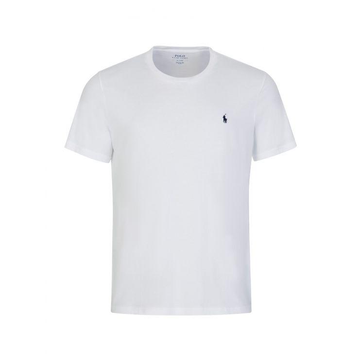 Polo Ralph Lauren White Cotton Crewneck T-Shirt