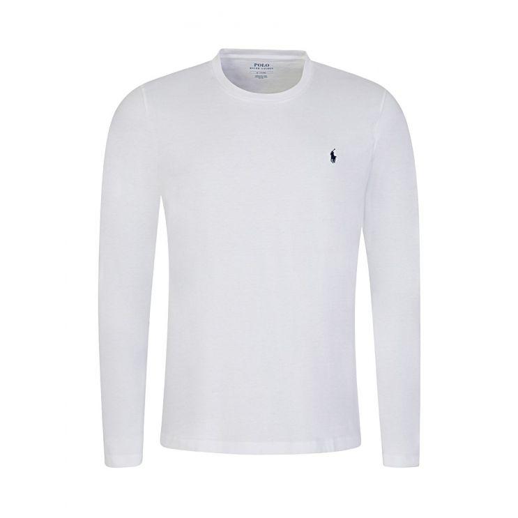 Polo Ralph Lauren White Cotton Jersey Crewneck T-Shirt