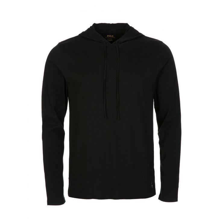 Polo Ralph Lauren Black Cotton-Blend Sleep Hoodie