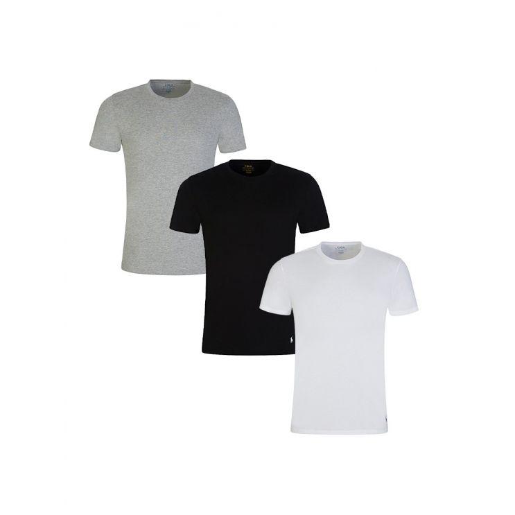 Polo Ralph Lauren White/Black/Grey 3-Pack T-Shirts