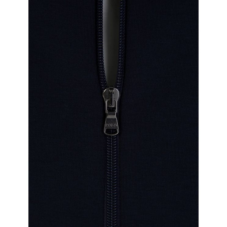 Polo Ralph Lauren Navy Double-Knitted Full-Zip Hoodie