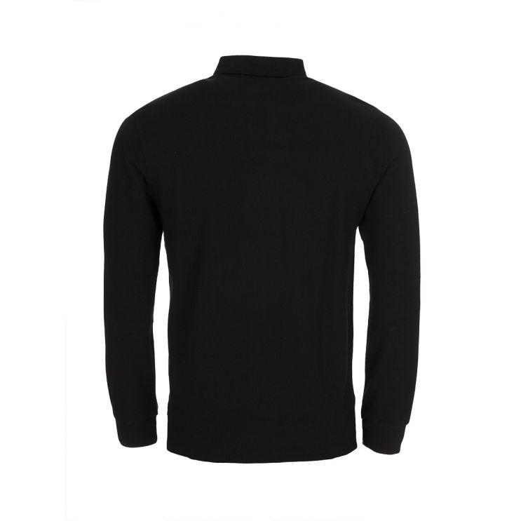 Polo Ralph Lauren Black Custom Slim Long-Sleeve Polo