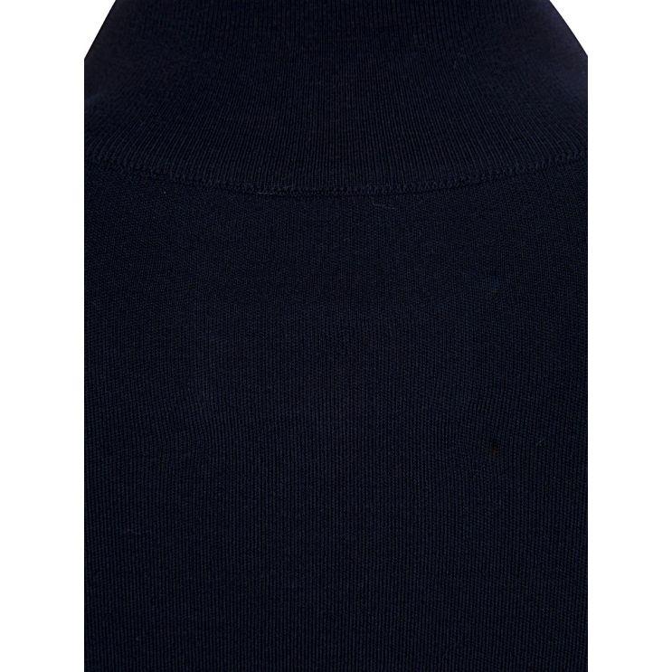 Maison Margiela Navy Blue 1/4 Zip High Neck Jumper