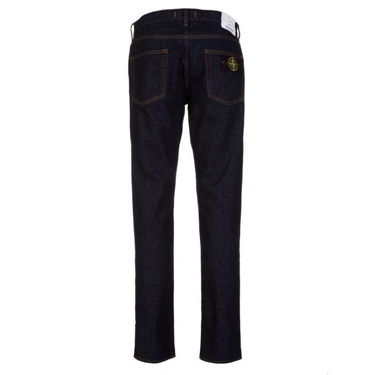 Stone Island Navy Regular Tapered Jeans