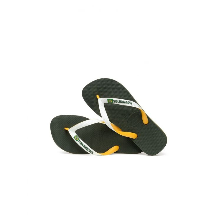 Havaianas Olive Green Brazil Mix Flip Flops