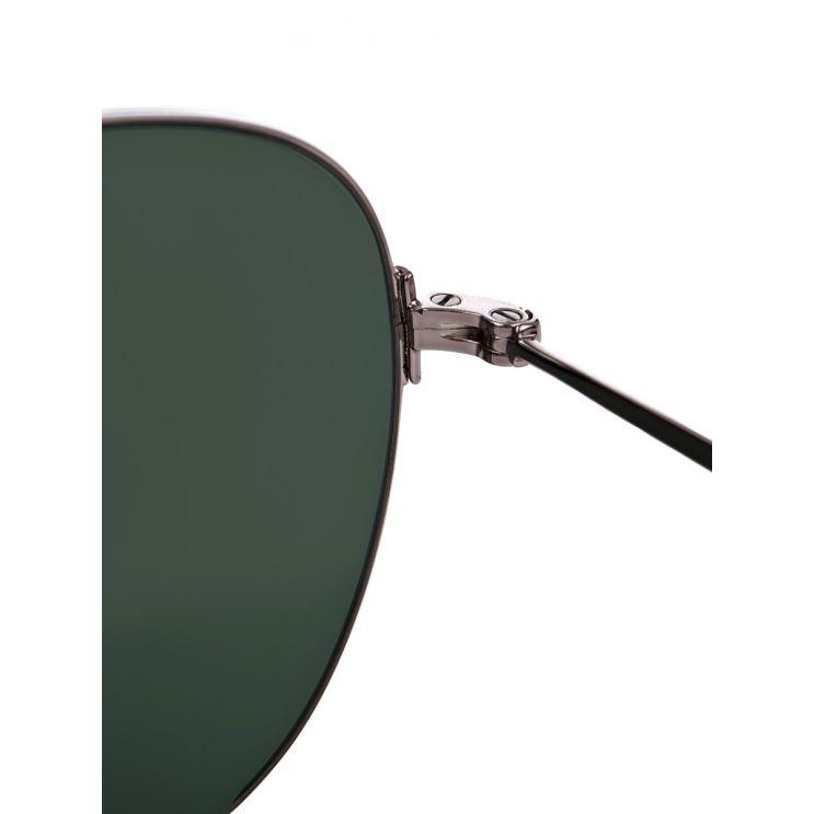 Balenciaga Silver Aviator Sunglasses
