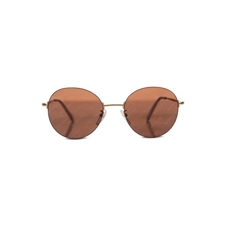 Balenciaga Gold Invisible Banner Sunglasses