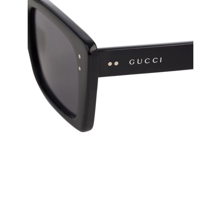 Gucci Black Squared Sunglasses