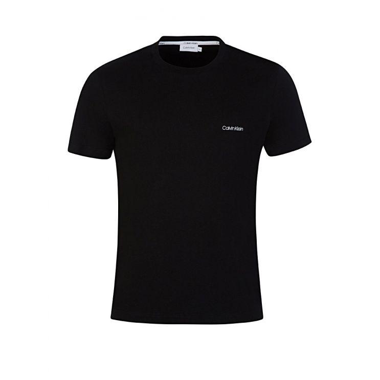 Calvin Klein Black Cotton Chest Logo T-Shirt